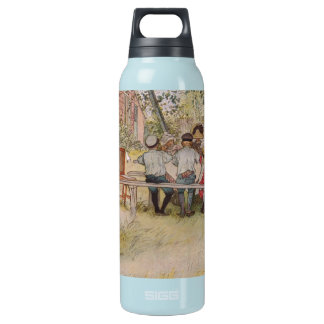 Breakfast Under the Birch Trees 16 Oz Insulated SIGG Thermos Water Bottle