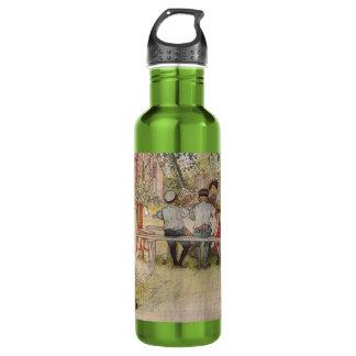 Breakfast Under the Birch Trees Stainless Steel Water Bottle