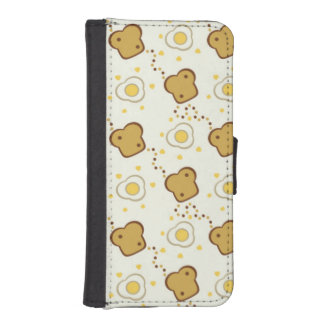 Breakfast Wallet Phone Case For iPhone SE/5/5s