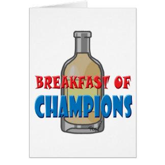 Breakfast Whisky Card