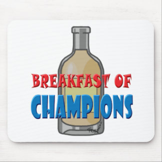 Breakfast Whisky Mouse Pad