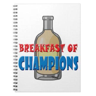 Breakfast Whisky Spiral Note Book