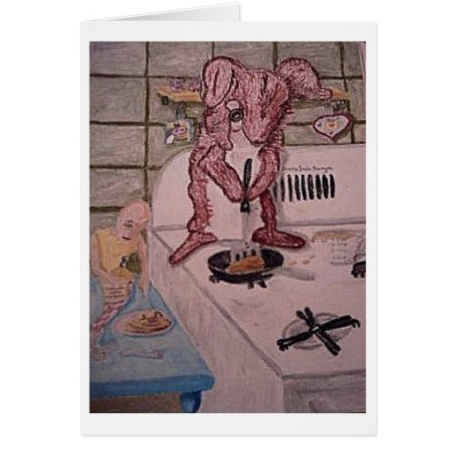 Breakfast With A Friend Greeting Card