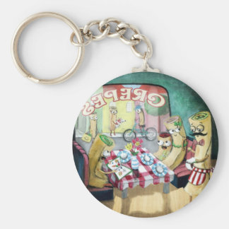 Breakfast with Family of Pancakes Keychain