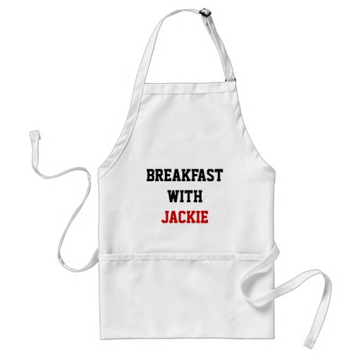 BREAKFAST WITH, JACKIE ADULT APRON