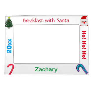 Breakfast with Santa NAME Picture Frames Magnetic Frame