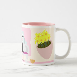 Breakfast with Stephanie Deluxe Two-Tone Coffee Mug