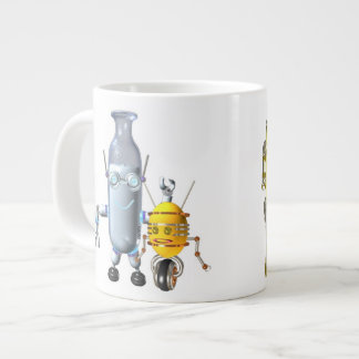 BreakfastBots are robot food Large Coffee Mug