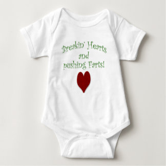 Breakin' Hearts and Pushing Farts Baby Bodysuit