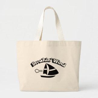 Breakin' Wind Large Tote Bag