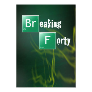 Breaking 40 Birthday Party Card
