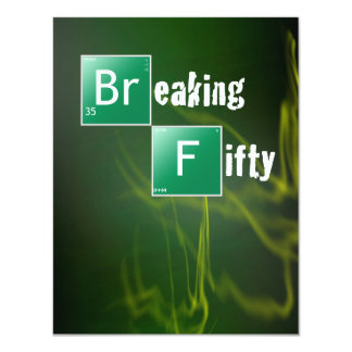 Breaking 50 Birthday Party Card
