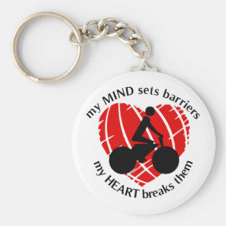 Breaking Barriers Cycling Keychain