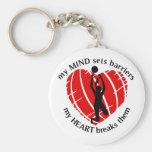 Breaking Barriers Girls Volleyball Keychains