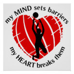 Breaking Barriers Girls Volleyball Poster