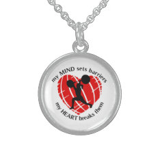 Breaking Barriers Lady Powerlifter Necklace at Zazzle