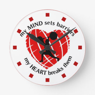 Breaking Barriers Powerlifting Wall Clock