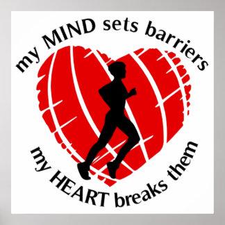 Breaking Barriers Runner Poster