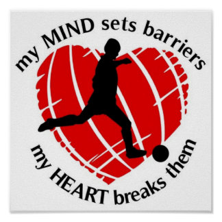BREAKING BARRIERS SOCCER PLAYER POSTERS