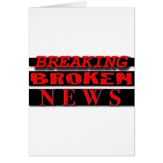 Breaking Broken News Logo Wear Card
