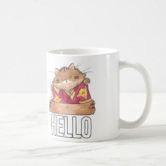 Breaking Cat News Backyard Cat mug