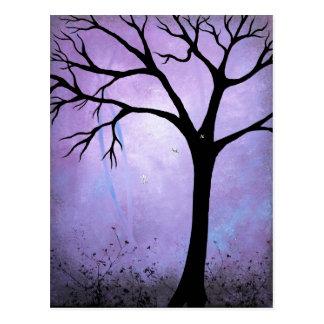 Breaking Dawn Abstract Tree Art Postcard
