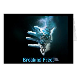 Breaking Free - Break Up Greeting Card