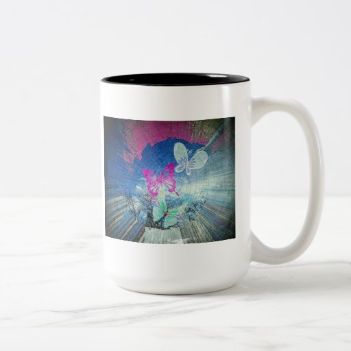 Breaking free coffee mug