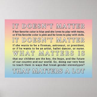 Breaking Gender Stereotypes Pastel Poster