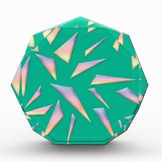 Breaking Glass on Green Acrylic Award