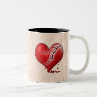 Breaking Heart Two-Tone Coffee Mug