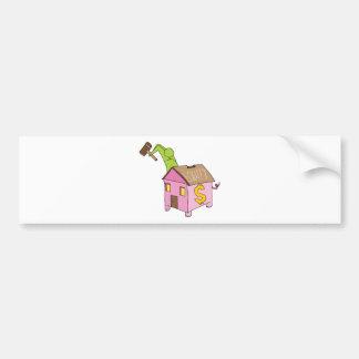 Breaking Home Equity Piggy Bank Bumper Sticker