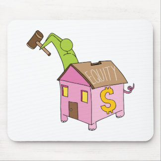 Breaking Home Equity Piggy Bank Mouse Pad