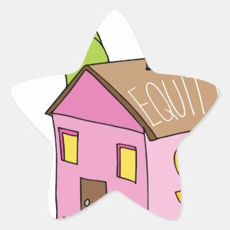 Breaking Home Equity Piggy Bank Star Sticker