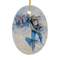 Breaking Horses Christmas Tree Ornament