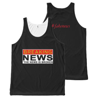 breaking news All-Over-Print tank top