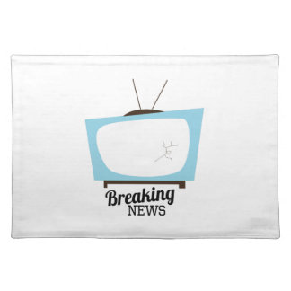 Breaking News Cloth Place Mat