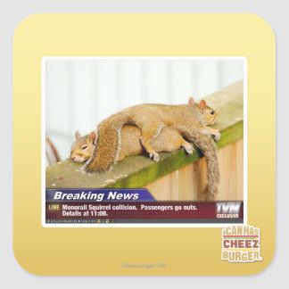 Breaking News Square Stickers