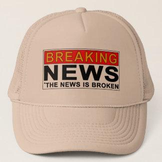 breaking news trucker hat