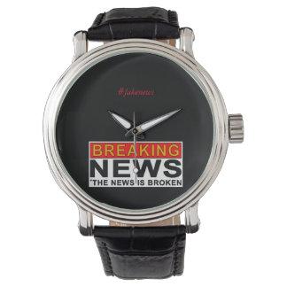 breaking news wristwatch