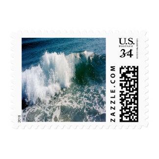 Breaking Ocean Wave Postage Stamp
