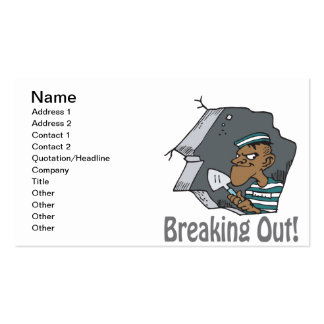 Breaking Out Business Card Template