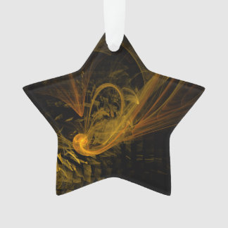 Breaking Point Abstract Art Acrylic Star Ornament
