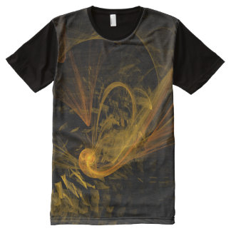 Breaking Point Abstract Art All-Over Print T-shirt