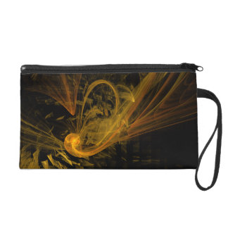 Breaking Point Abstract Art Bag Wristlet Clutch