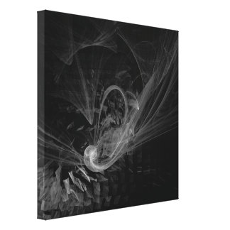Breaking Point Abstract Art Black and White Canvas Print