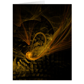 Breaking Point Abstract Art Card
