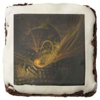 Breaking Point Abstract Art Chocolate Brownie