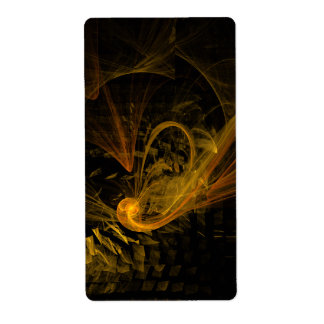 Breaking Point Abstract Art Fractal Label