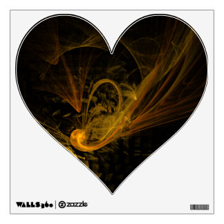 Breaking Point Abstract Art Heart Wall Sticker